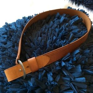 Nine West Belt Brown Tan Leather Womens S M